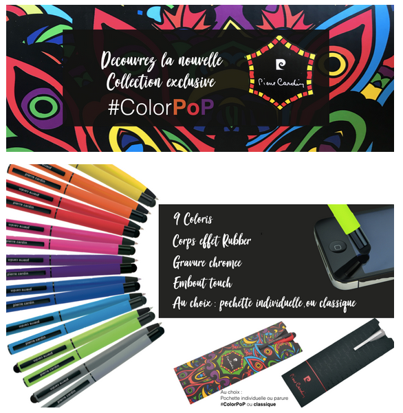 Collection #ColorPoP de Pierre Cardin